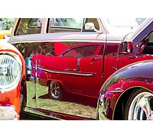Red Chevy Bel Air Reflection Photographic Print