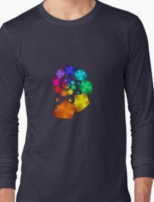 Colorful Geometric Spiral Long Sleeve T-Shirt