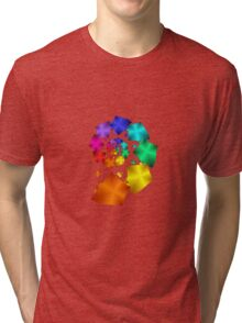 Colorful Geometric Spiral Tri-blend T-Shirt