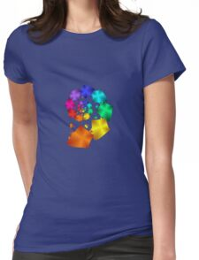 Colorful Geometric Spiral Womens Fitted T-Shirt