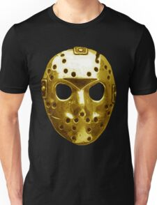 Gold Hockey Mask Unisex T-Shirt