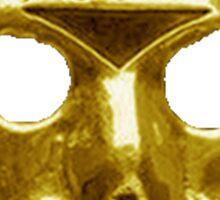 Gold Hockey Mask Sticker
