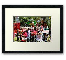 climate action Framed Print