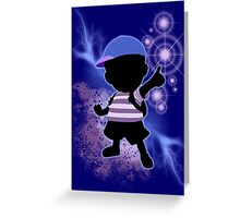 Super Smash Bros. Blue Ness Silhouette Greeting Card