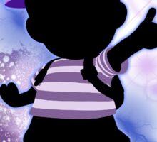 Super Smash Bros. Blue Ness Silhouette Sticker