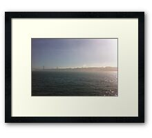 Mysterious day near the water Framed Print