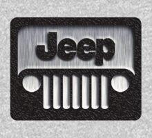 Classic retro silver Jeep logo by Johnny Sunardi