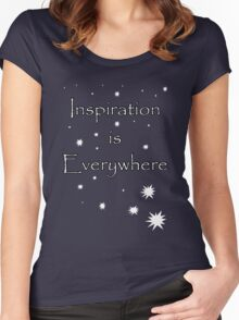 Inspiration is everywhere Women's Fitted Scoop T-Shirt