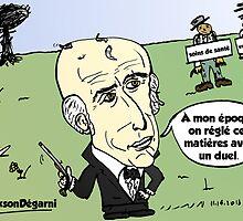 Président Jackson Chauve caricature éditoriale by Binary-Options