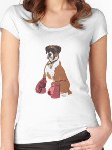 Boxer Dog Women's Fitted Scoop T-Shirt