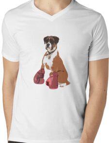 Boxer Dog Mens V-Neck T-Shirt