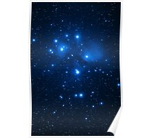 Pleiades Cluster Poster