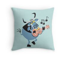 Cute Little Singing Bull!!! Throw Pillow