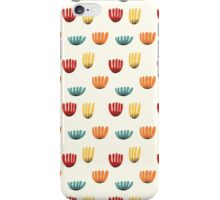 Floral stylized red, yellow and blue pattern iPhone Case/Skin