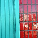 Turquoise Red Textures by donnagrayson