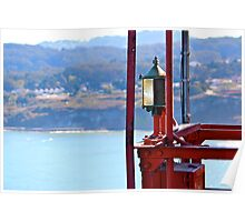 Golden Gate Light by Ernie Dickey Poster