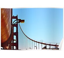 Golden Gate Lines by Ernie Dickey Poster