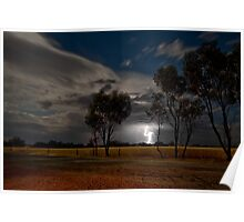 Western Australia country Lightening Poster