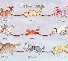 Santa's Little (Kitten) Helpers by AliciaMB