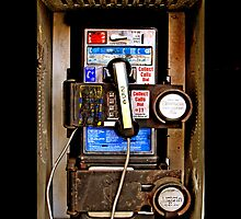 Zoom out Classic Retro Rustic Public payphone by Johnny Sunardi