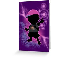 Super Smash Bros. Black/Purple Ness Silhouette Greeting Card