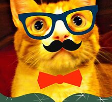 Hipster Cat Holidays by lunanshee
