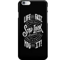 Love moves fast iPhone Case/Skin