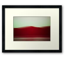 sea,land,sky Framed Print