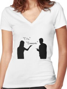 Fitzsimmons Women's Fitted V-Neck T-Shirt