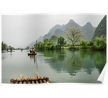 The peaceful Yulong river Poster