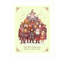 The loudest carollers in Middle Earth Art Print