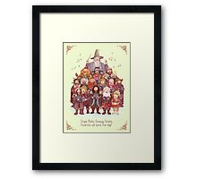 The loudest carollers in Middle Earth Framed Print