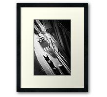 White Car Framed Print