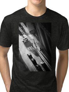 White Car Tri-blend T-Shirt