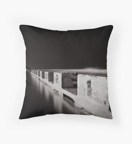Merewether Baths - B&W Throw Pillow