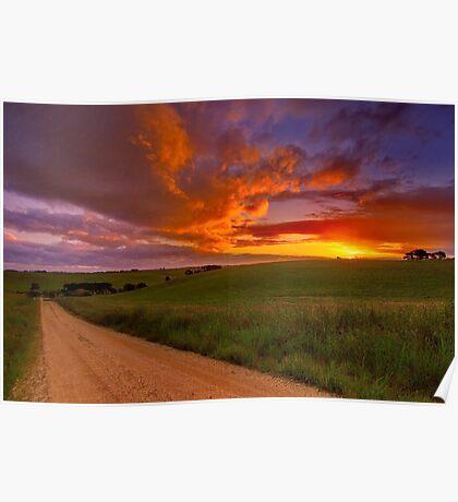 """Barrabool Sundown"" Poster"