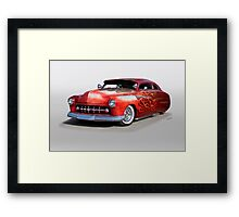 1950 Mercury Custom 'Rode Hard, Put Away Wet' Framed Print