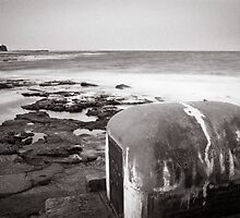 Newcastle Ocean Baths - Pump House B&W  by 4thdayimages
