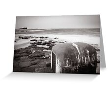 Newcastle Ocean Baths - Pump House B&W  Greeting Card