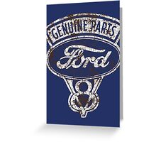 Oil Stained Ford Sign Greeting Card