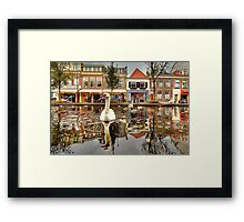 old Delft Holland... 6..the Swan's point of view 2 Framed Print