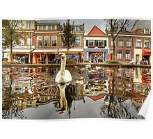 old Delft Holland... 6..the Swan's point of view 2 Poster