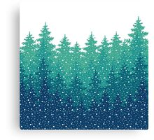 Winter Holiday background Canvas Print