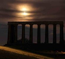 The National Monument on Calton Hill in Edinburgh by Pat Millar