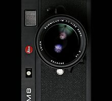 Vintage Classic Retro Black leica m8 camera by Johnny Sunardi