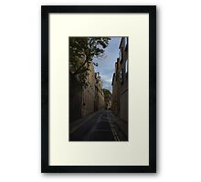Oxford, England, Brewer Street Framed Print