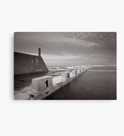 Newcastle Ocean Baths - B&W  Canvas Print