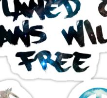Freedom Outlawed Sticker