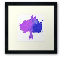 Watercolor abstract tree in purple and blue Framed Print