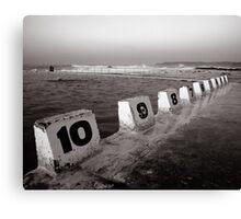 Ocean Bath - B&W Canvas Print